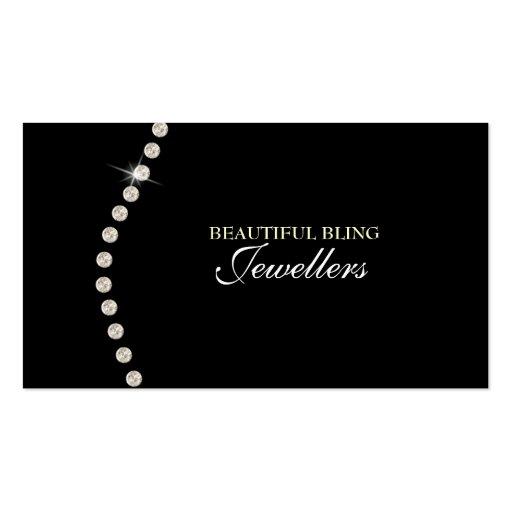 Diamond Bling Jewel Jewellery Store Business Card