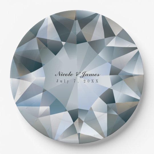 Diamond Bling Jewellery Elegant Jewel Party Paper Plate