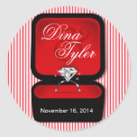 Diamond Bling Ring Box red
