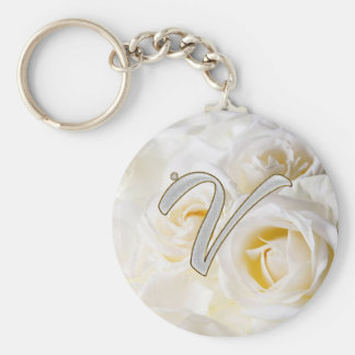 Diamond Bling V Key Ring