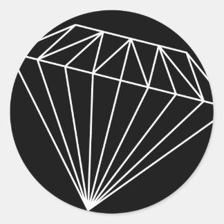 Diamond branded round sticker