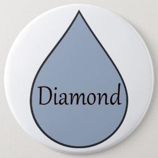 Diamond breastfeeding award badge. 2 years 6 cm round badge