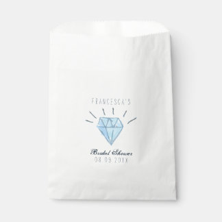 Diamond Bridal Shower Favor Bags