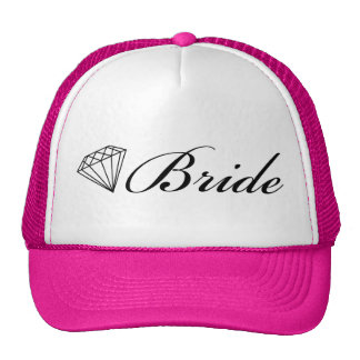Diamond Bride Trucker Hat Black
