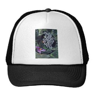 Diamond brooch  flowers trucker hat