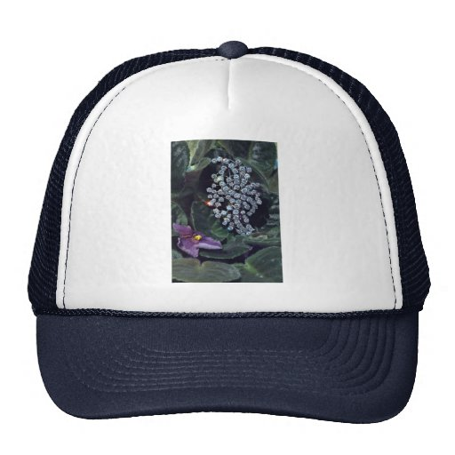 Diamond brooch mesh hats