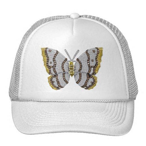 Diamond Butterfly Print Mesh Hat