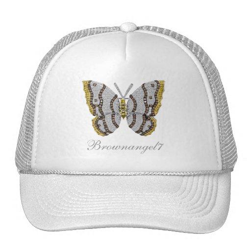 Diamond Butterfly Print Trucker Hats