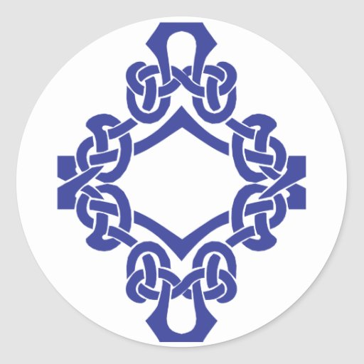 Diamond Celtic Knotwork Stickers