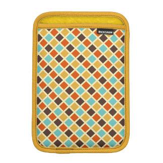 Diamond Checkered Blue Yellow Red Retro Colors Sleeve For iPad Mini