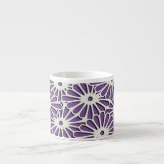 Diamond Chrysanthemums delicate pattern Espresso Cup