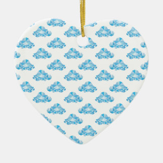 Diamond Clouds in the Sky Pattern Christmas Ornament