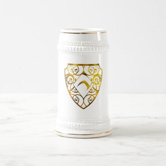 Diamond Club White/Gold 22 oz Stein