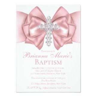 Diamond Cross Baptism | Christening Invitation