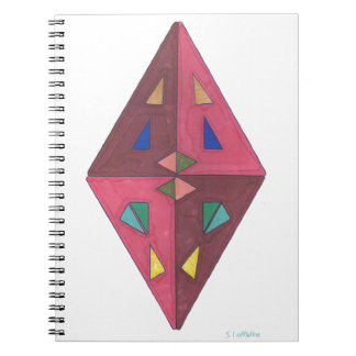 Diamond Cut Abstract Art Note Book
