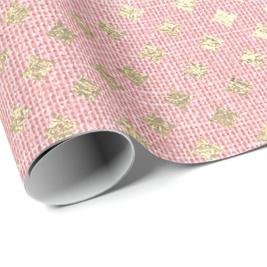 Diamond Cut Foxier Gold Pink Blush Cotton Linen