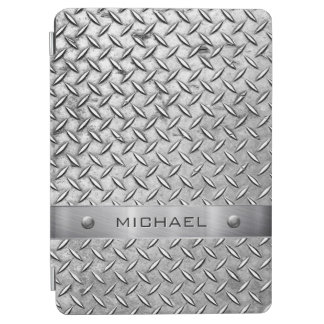 Diamond Cut Pattern Metal Plate iPad Air Cover