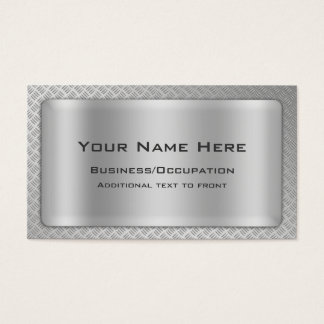 Diamond Cut Steel Plate Look Business Cards