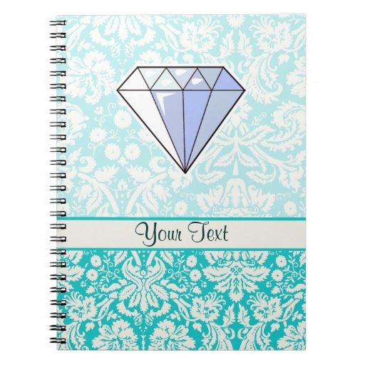 Diamond; Cute Spiral Notebooks