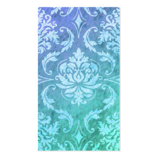 Diamond Damask, COLORFUL RAIN in Blue & Turquoise Business Cards