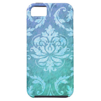 Diamond Damask, Colorful Rain in Blue & Turquoise Case For The iPhone 5