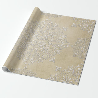 Diamond Damask Lace Gift Wrapping Paper