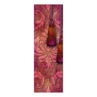 Diamond Damask, MOROCCO in Fuchsia and Orange Pack Of Skinny Business Cards