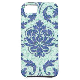 Diamond Damask, Nouveau Print in Blue and Aqua iPhone 5 Covers
