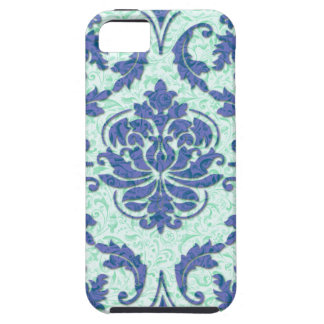 Diamond Damask, Nouveau Print in Blue and Aqua iPhone 5 Covers