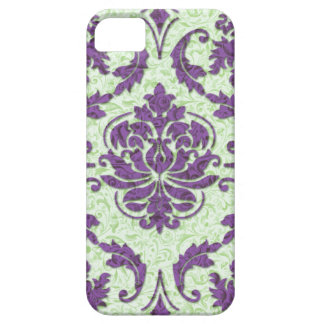 Diamond Damask, Nouveau Print in Purple and Green Case For The iPhone 5