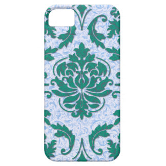 Diamond Damask, Nouveau Print in Teal and Blue iPhone 5 Cover