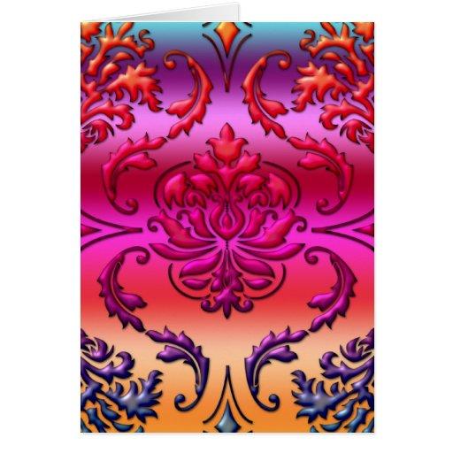 Diamond Damask, Reverse Rainbow Fade #5 Cards