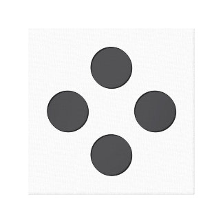 Diamond DarkGrey Dots Gallery Wrapped Canvas
