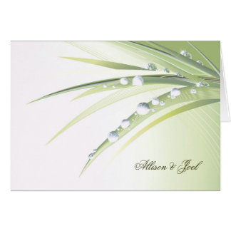 Diamond Dew  Drops Wedding Vow Renewal Card