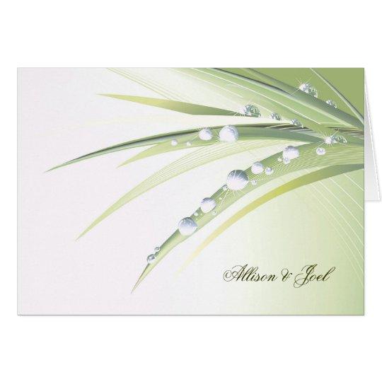Diamond Dew  Drops Wedding Vow Renewal Card