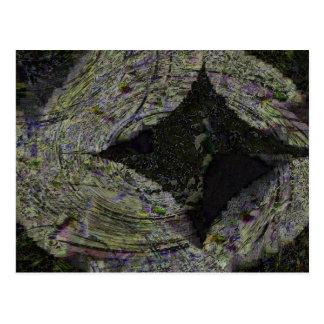 Diamond, digital abstract postcard