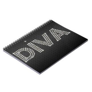 Diamond Diva black and sparkles Notebook
