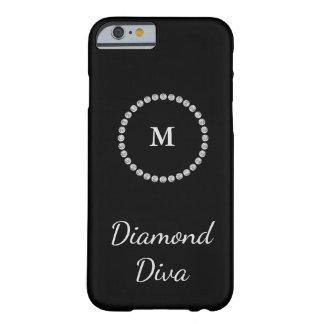 Diamond Diva Monogram Barely There iPhone 6 Case