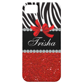 Diamond Diva (red glitter) Barely There iPhone 5 Case