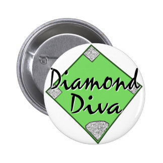 Diamond Diva Softball 6 Cm Round Badge