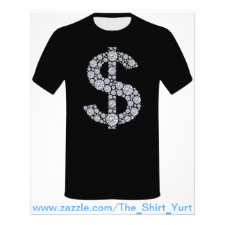 Diamond Dollar Sign Bling 11.5 Cm X 14 Cm Flyer