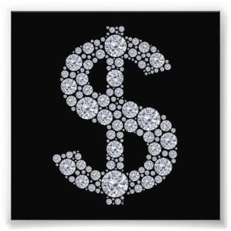 Diamond Dollar Sign Bling Photo