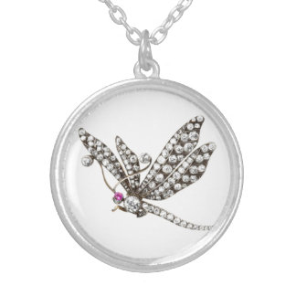 Diamond Dragonfly Vintage Costume Jewelry Charm