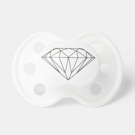 Diamond Drawing Black and White Modern Dummy