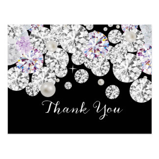 Diamond elegant thank you card postcard