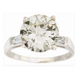Diamond Engagement Ring Hint Hint Postcard