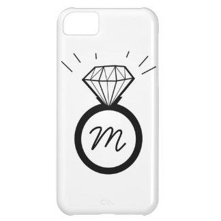 Diamond Engagement Ring monogram iphone case iPhone 5C Case