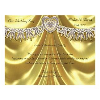 Diamond Fleurette & Satin Gold 21.5 Cm X 28 Cm Flyer