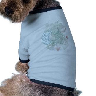 diamond flower drop pattern doggie t shirt