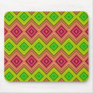 Diamond Fractal - Pink and Green - Mousepad